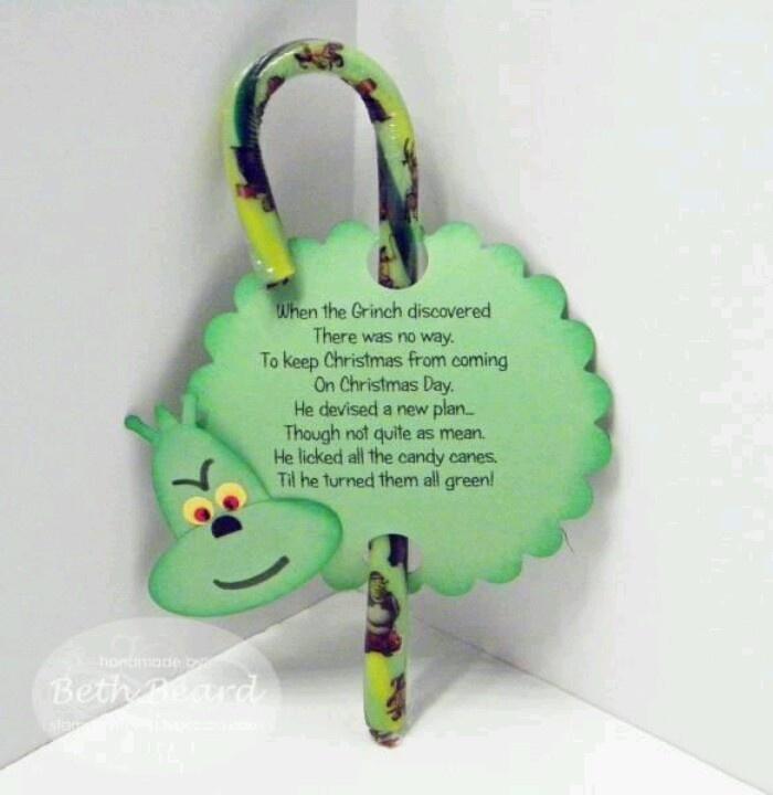 Grinch candy cane idea   1st grade Christmas   Pinterest ...