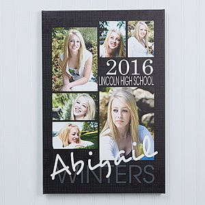 Make the graduation memories live forever with the Personalized Graduation Portrait Canvas Prints - 16x20. Find the best personalized graduation gifts at PersonalizationMall.com