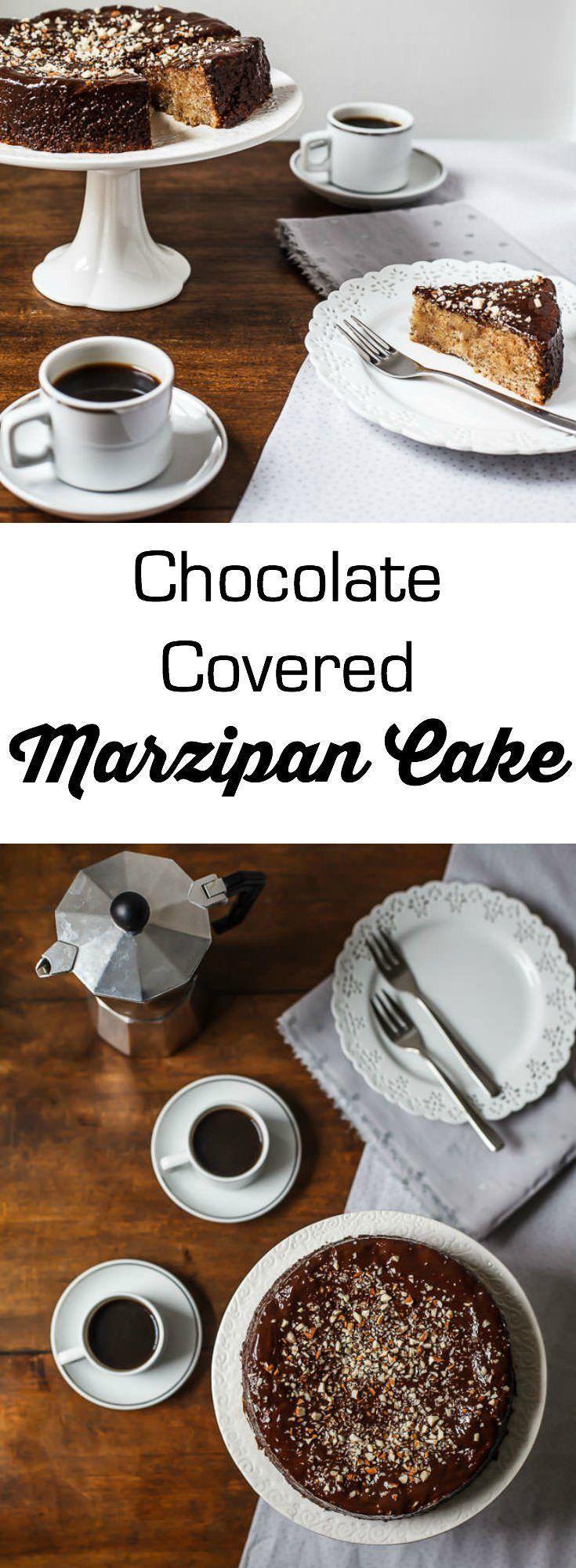 luscious chocolate covered marzipan cake   1BigBite