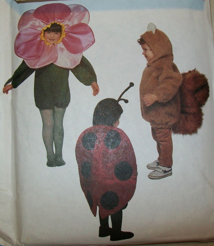 McCALL'S NEW UNCUT PATTERN-CHILDREN'S ANIMAL COSTUMES-SQUIRREL ...