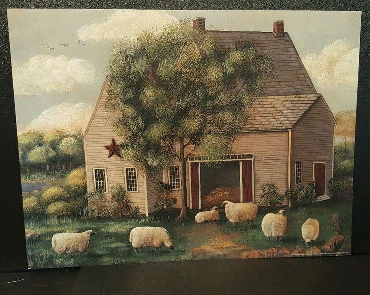 Estampa de Arte Folclórica Wooly Ovelha Pam Britton 2008 Sem Moldura 12 X 16 | Casa e jardim, Decoração para casa, Pôsteres e gravuras | eBay!