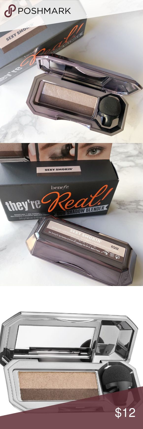 Benefit Eyeshadow Duo in Sexy Smokin' Brand new in box! Sexy Smokin' features a pewter sheen with a soft matte charcoal brown. Benefit Makeup Eyeshadow