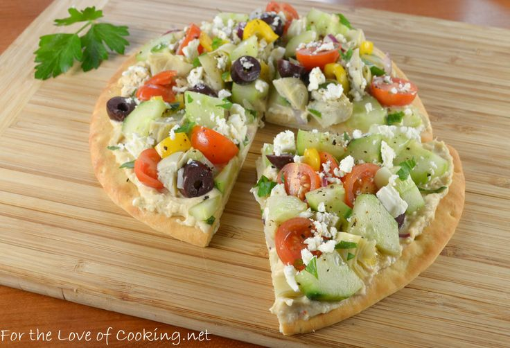Veggie & Hummus Flatbread | For the love of Cooking