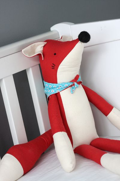 Fox softie by www.thingforboys.com