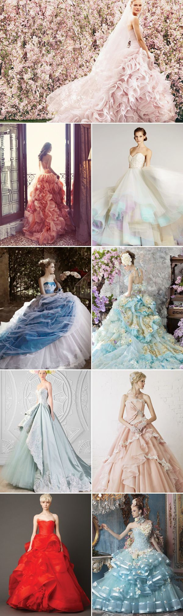 37 Princess Royal Ball Gowns with a touch of Glam! Colored Gowns