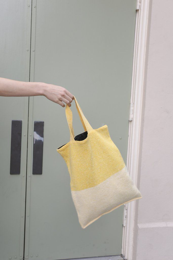 Hansel From Basel Two-Tone Tote Bag in Marigold