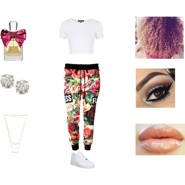 A fashion look from March 2015 featuring Topshop tops, NIKE sneakers and Auriya earrings. Browse and shop related looks.
