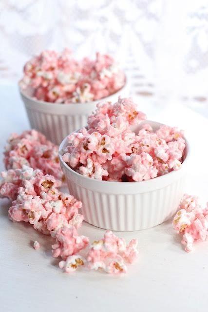 palomitas de maiz rosa.