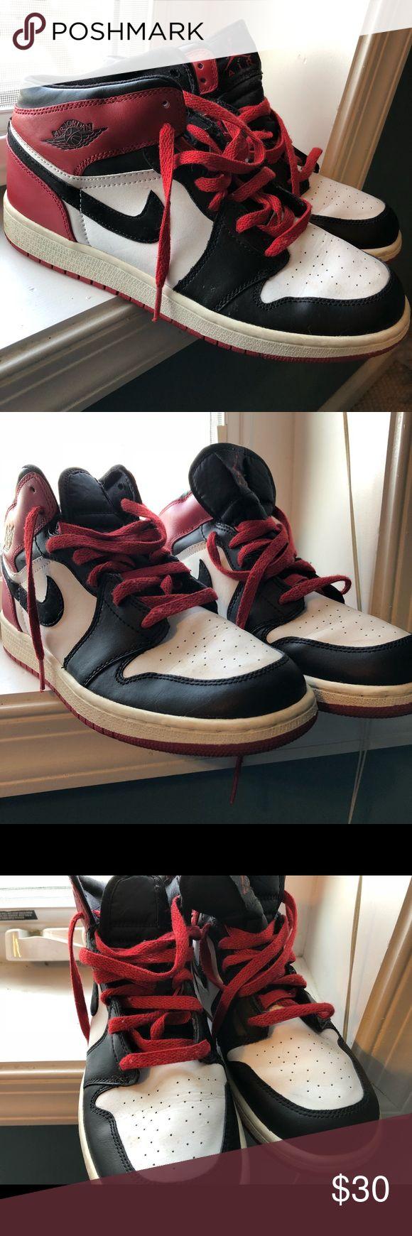 Retro Jordan 1s Retro Jordan 1s . Brought from footlocker . Just needs new laces . Air Jordan Shoes Sneakers