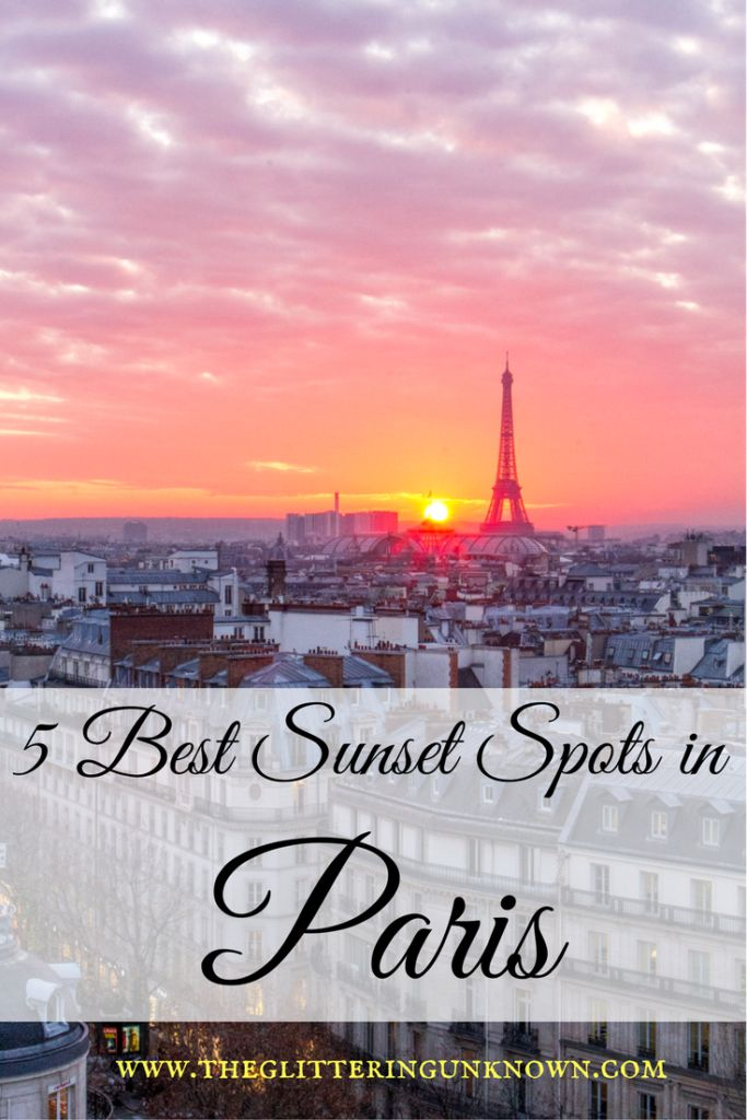 5 Best Sunset Spots in Paris