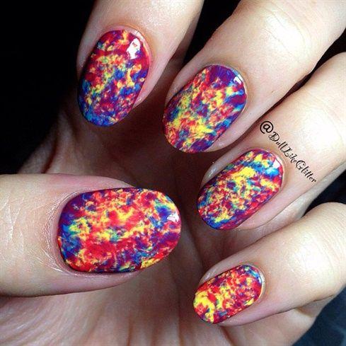 Double Saran Wrap Nails - Nail Art Gallery nailartgallery.nailsmag.com by nailsmag.com