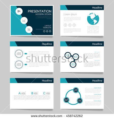 Template vector triangle blue set for brochure presentation business.Slides horizontal of modern layout and brochure illustration leaflet flyer design
