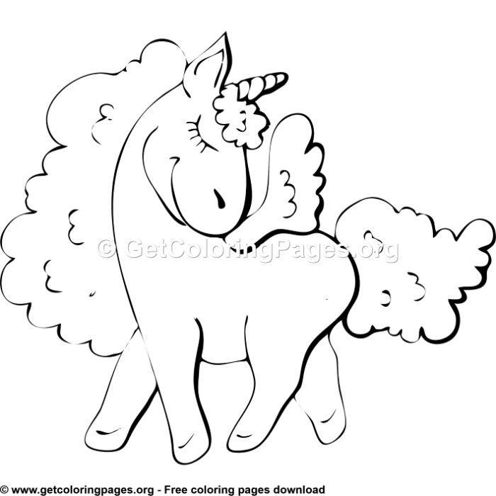100 Cute Cartoon Unicorn Coloring Pages Unicorn Themed Birthday