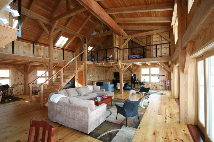 timber-frame-interior-1 from Vermont timber works