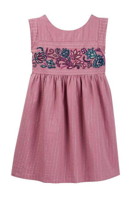 Image of Tea Collection La Ventana Embroidered Dress (Toddler, Little Girls, & Big Girls)