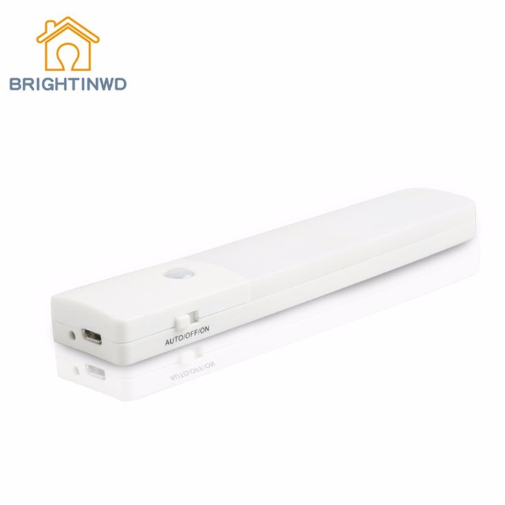 USB Rechargeable LED Under Cabinet Light Motion Sensor Lamp Kitchen Wardrobe Closet Energy Saving LED Night Light #Affiliate