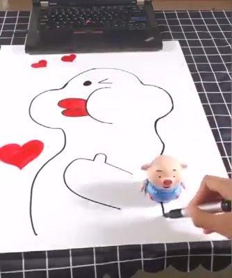 Pädagogisches kreatives Stift-induktives Spielzeug-Schwein – Preis der zweiten Hälfte