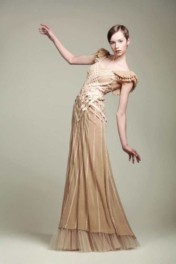 KV Couture, fashion designer Kristina Viirpalu, Pille dress, http://www.kvcouture.eu/haute-couture/ #kvcouture #kristinaviirpalu #dress #gown #beige