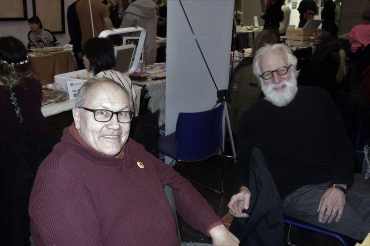 Will Rueter and Alan Stein at the OCADU Book Arts Fair, December 10, 2016. Photo by Don McLeod.