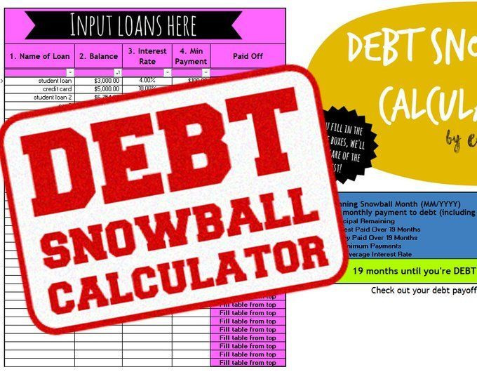 Debt Payoff Spreadsheet Debt Snowball Excel Credit Card Etsy Credit Card Payoff Plan Paying Off Credit Cards Debt Payoff