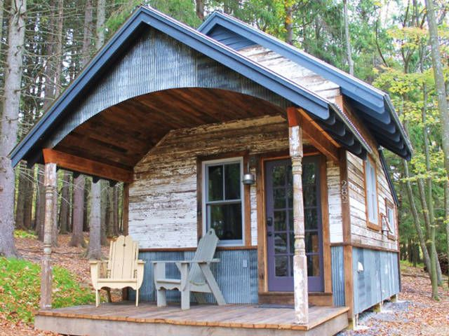 I would consider building one of these as a weekend cabin if we had some property in the lake. Impressive Tiny Houses - Small House Plans - Country Living