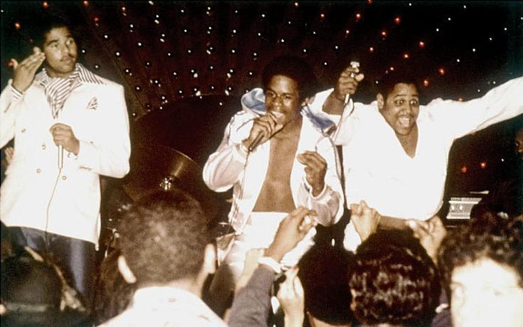 """The Sugarhill Gang (from l.-r., Michael """"Wonder Mike"""" Wright, Guy """"Master Gee"""" O'Brian and Henry """"Big Bank Hank"""" Jackson) hailed from Englewood, N.J., and rose to fame with their infectious hit """"Rapper's Delight"""" in 1980. The song is arguably hip-hop's first-ever hit, peaking at"""