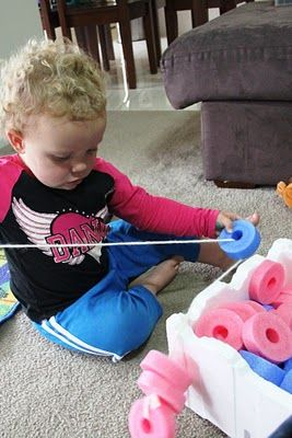 Mumma made it: craft for little people: noodle threading