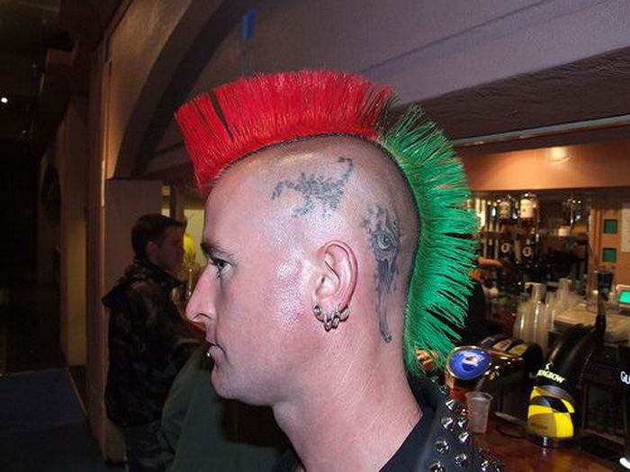 Punk Hairstyles for Men with Color