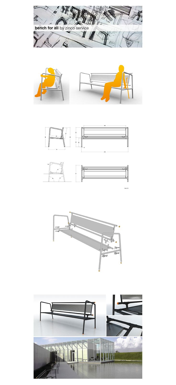 Panchina design by Zinco Service