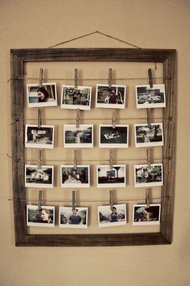 Interieurideeën | Landelijke fotolijst voor veel foto's. Door lilian8919