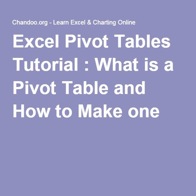 how to create pivot table in excel 2007 with example