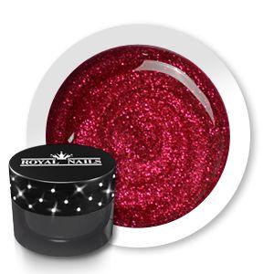 Royal Nails Gel de couleur: Gel de couleur pour ongles n° 143 Monarch Red Glitter