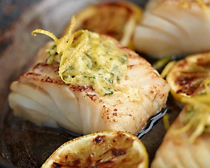 Smażony dorsz z czosnkowo-cytrynowym masłem #lidl #dorsz #przepis