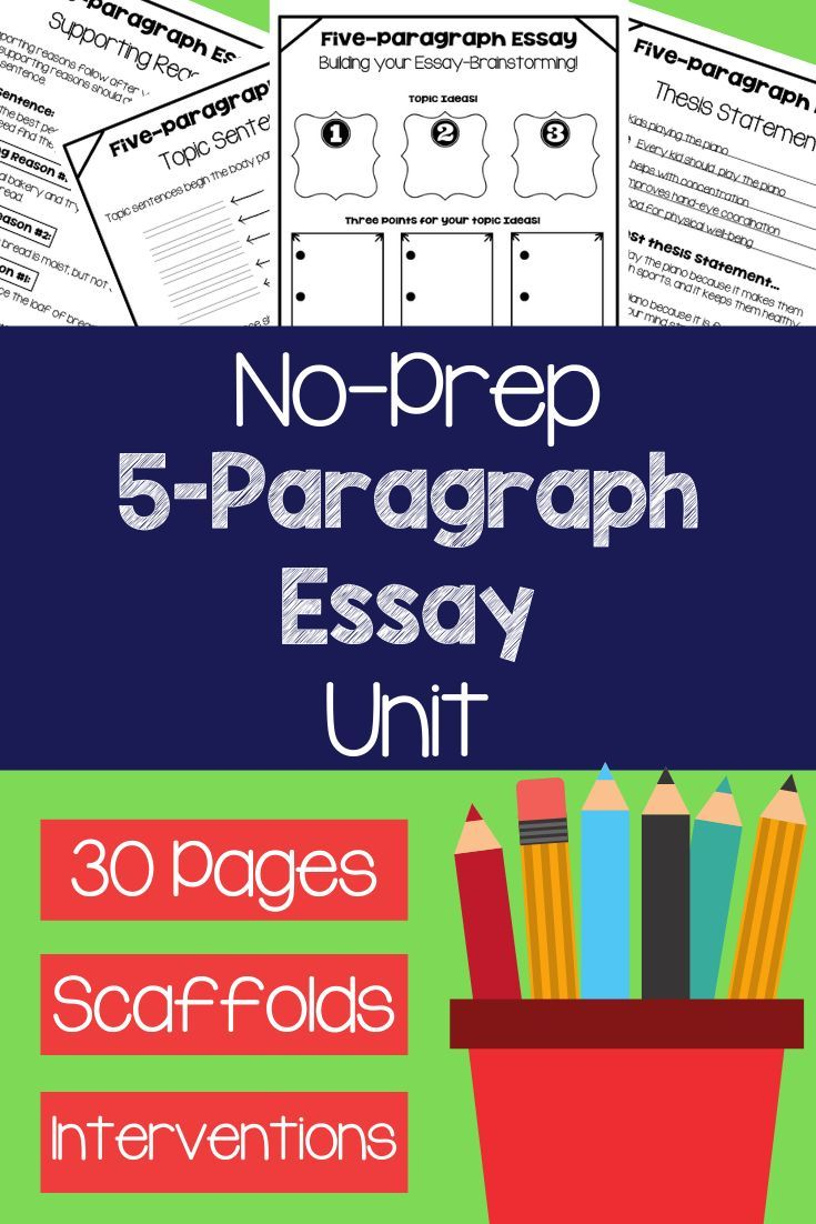 Build Your Students 5 Paragraph Essay Writing Skills With This Easy Effective And Concrete U Paragraph Writing Worksheets Writing Worksheets Paragraph Essay [ 1102 x 735 Pixel ]