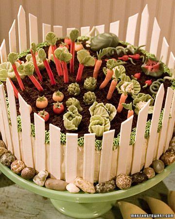 veggie garden on a cake