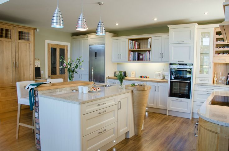 A calm and relaxing kitchen by Newhaven Kitchens Carlow.