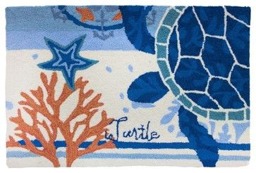 Turtle Medallion Rug transitional-rugs