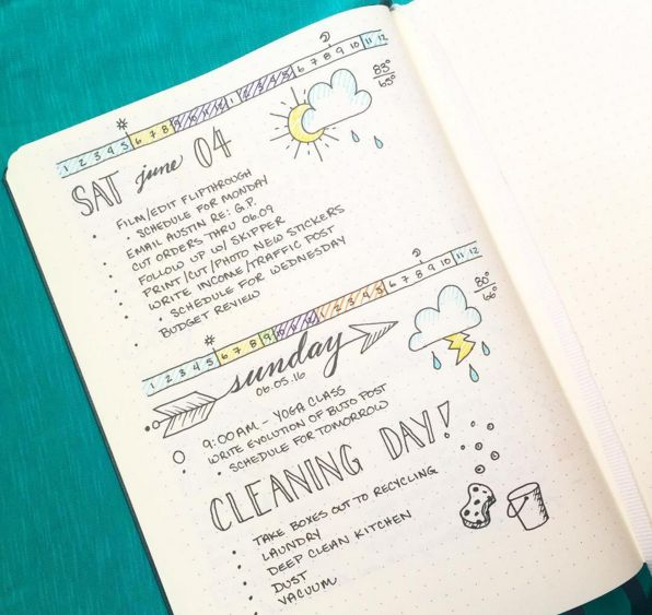 I can't. | 25 Satisfying Bullet Journal Layouts That'll Soothe Your Soul