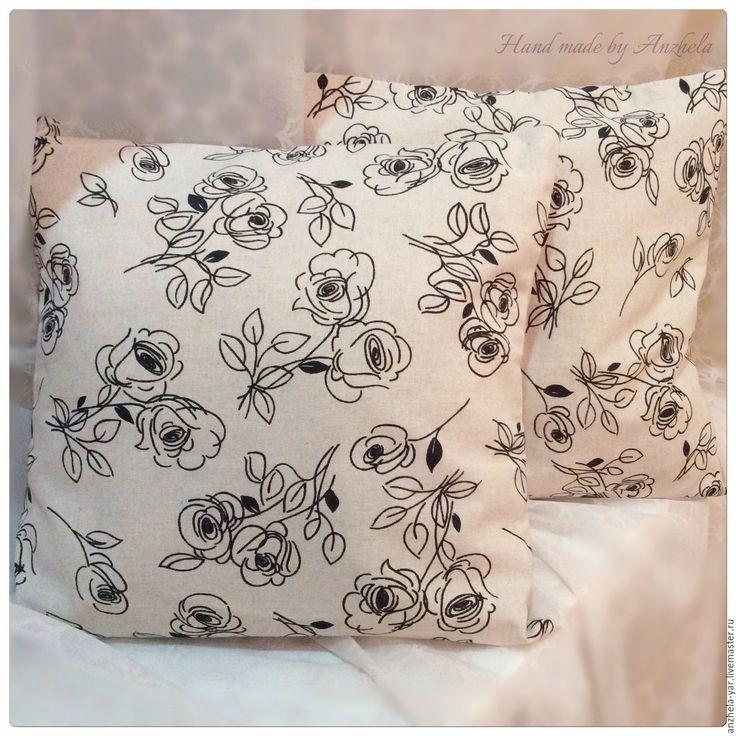 Купить Наволочка декоративная на подушку - комбинированный, подушка декоративная, наволочка на подушку, наволочка декоративная, наволочки