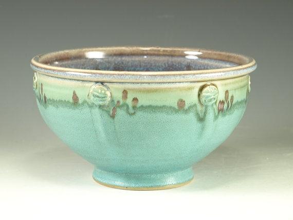 Stoneware pottery bowl