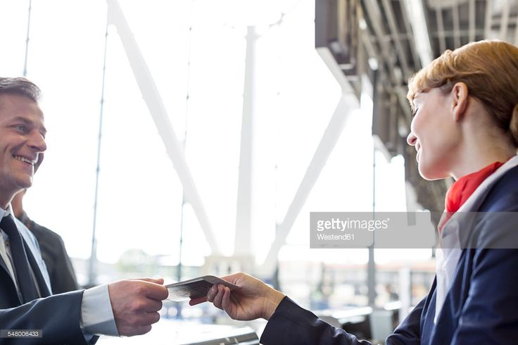 Stock Photo : Businessman at airport check-in