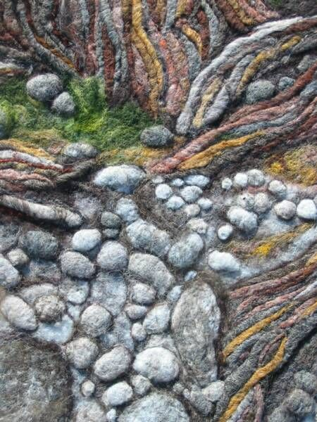 17 best images about needle felted wool paintings for Felted wool boulders