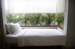 white walls & wooden floors
