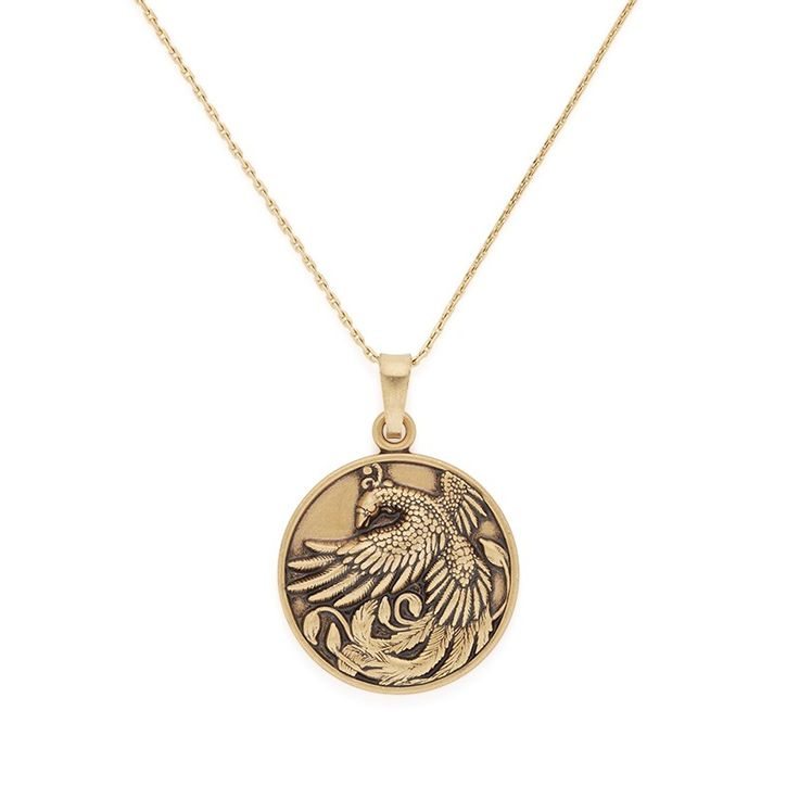 Rebirth • Magic • Healing - Phoenix necklace in Rafaelian Gold by ALEX AND ANI