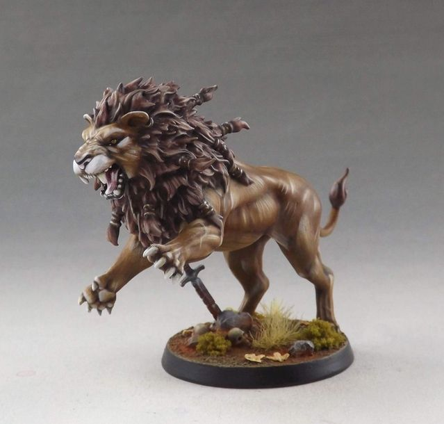 Nemean Lion. Sculpted by Aragorn Marks, painted by Martin Grandbarbe