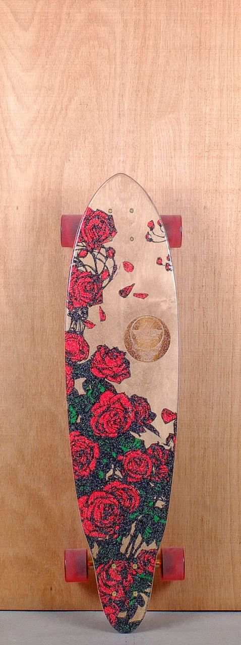 "Dusters Prebuilt 35"" Grateful Dead Bertha Longboard Complete Top"