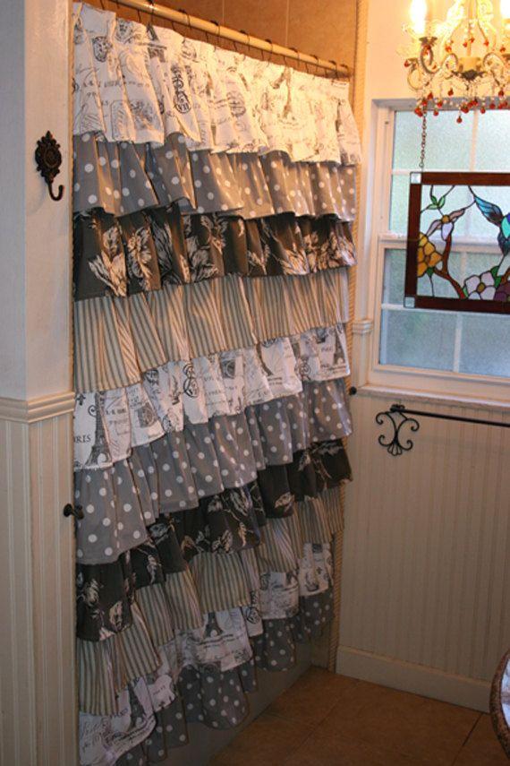 25 best Ruffle shower curtains ideas on Pinterest Lace ruffle