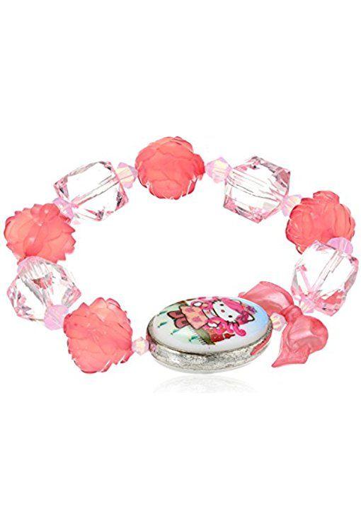 "Tarina Tarantino Hello Kitty ""Pink Head"" Portrait St. Peters Stretch Bracelet"