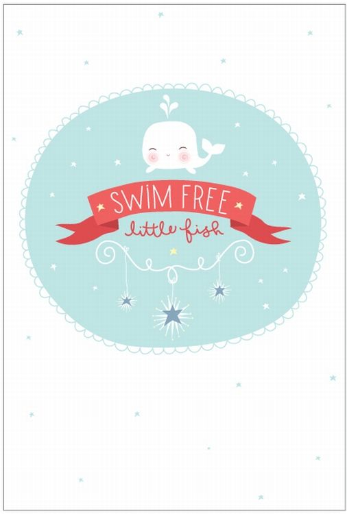 Recto verso #poster Swim free little fish 21x30 from www.kidsdinge.com    www.facebook.com/pages/kidsdingecom-Origineel-speelgoed-hebbedingen-voor-hippe-kids/160122710686387?sk=wall         http://instagram.com/kidsdinge #Kidsdinge #Toys #Speelgoed