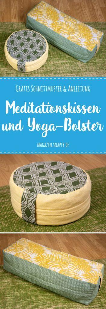 Meditationskissen und Yoga-Bolster nähen – gratis Schnittmuster